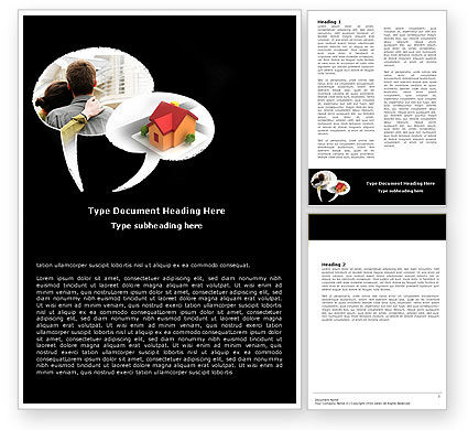 Own Home Word Template, 05790, Financial/Accounting — PoweredTemplate.com