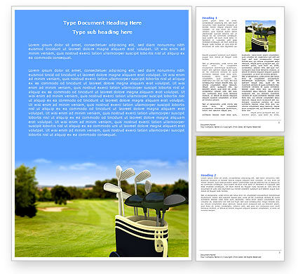 Golf Clubs Word Template, 05793, Sports — PoweredTemplate.com