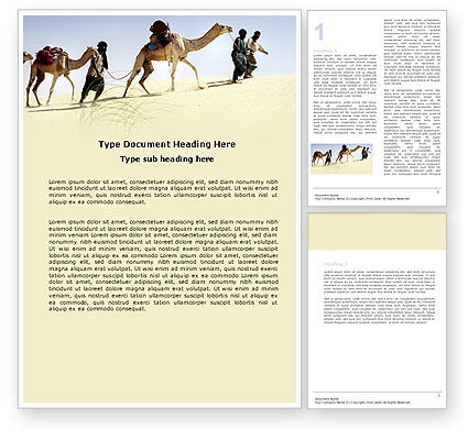 Camels Word Template, 05798, Nature & Environment — PoweredTemplate.com