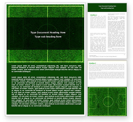 Sports: Football Play Field Word Template #05800