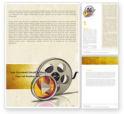 Moving Pictures Word Template, 05803, Careers/Industry — PoweredTemplate.com