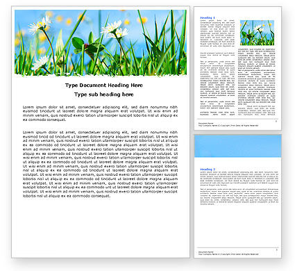 Field Flowers Word Template, 05804, Nature & Environment — PoweredTemplate.com