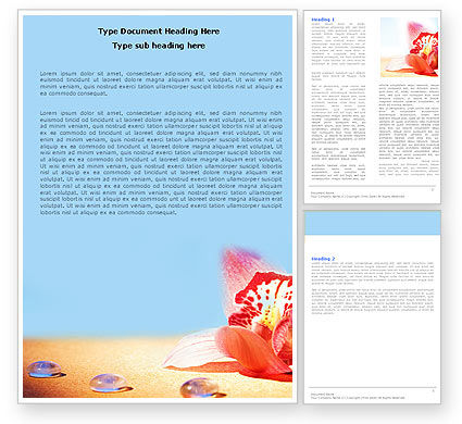 Careers/Industry: Red Orchid Word Template #05810