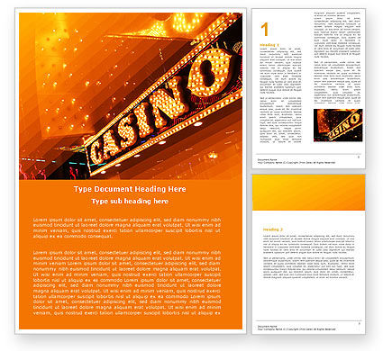 Casino Word Template, 05811, Careers/Industry — PoweredTemplate.com