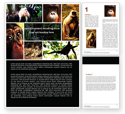 Agriculture and Animals: Primates Word Template #05820