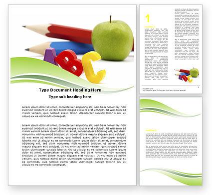 Start Education Word Template, 05823, Education & Training — PoweredTemplate.com