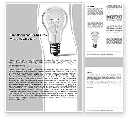 Consulting: Lamp In Gray Colors Word Template #05824