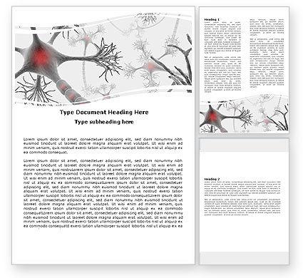 Neural Nodes Word Template, 05826, Medical — PoweredTemplate.com