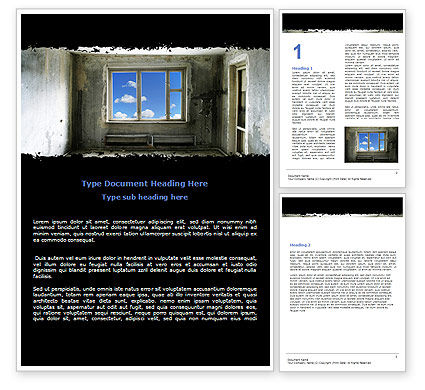 Ruined Apartment Word Template, 05831, Consulting — PoweredTemplate.com
