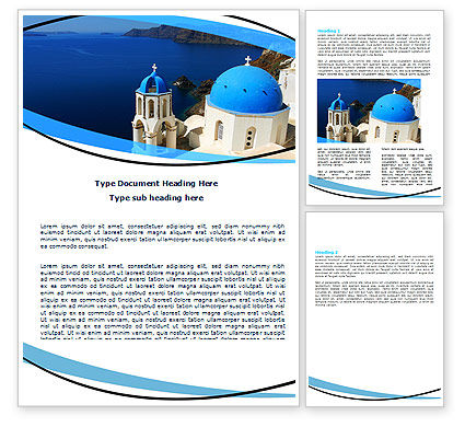 Religious/Spiritual: Greek Island Word Template #05833