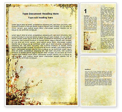 Floristry Word Template, 05838, Nature & Environment — PoweredTemplate.com