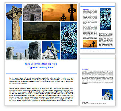 Religious/Spiritual: Celtic Revival Word Template #05840