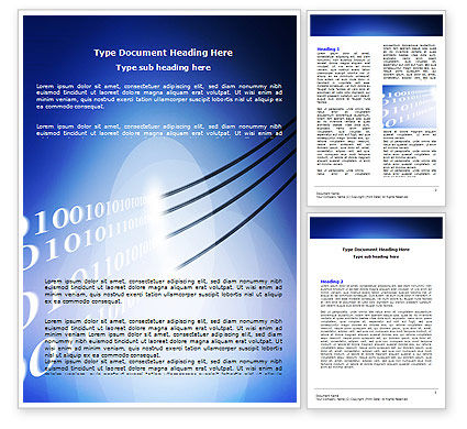Telecommunication: Wired Internet Word Template #05844