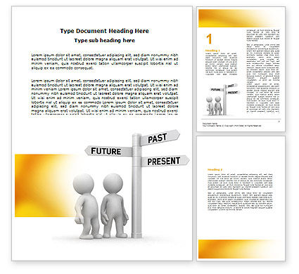 Present Past Word Template, 05847, Consulting — PoweredTemplate.com