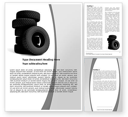 Tires Word Template, 05850, Careers/Industry — PoweredTemplate.com