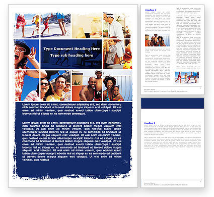 Careers/Industry: Family Vacation Word Template #05854