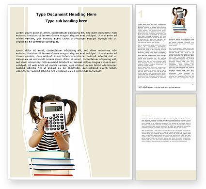 Education & Training: Schulmathematik Word Vorlage #05855