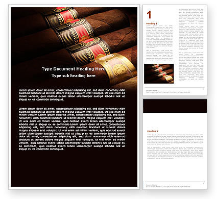 Cigars Word Template, 05858, Careers/Industry — PoweredTemplate.com