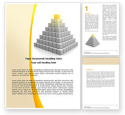 Business Concepts: Pyramid Word Template #05865