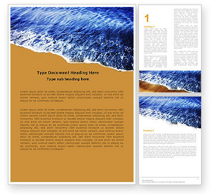 Sea Sand Word Template