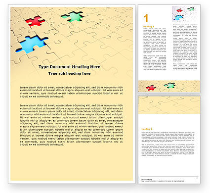 Missing Puzzles Word Template, 05873, Business Concepts — PoweredTemplate.com