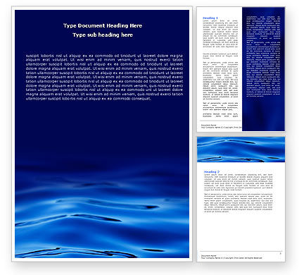Nature & Environment: Sea Waves Word Template #05881