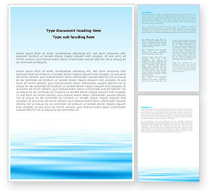 Blue Surface Word Template, 05885, Nature & Environment — PoweredTemplate.com