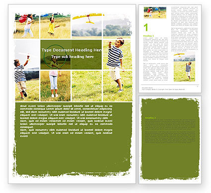 Outdoor Play Word Template