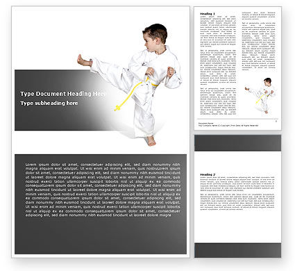 Sports: Karate Kid Word Template #05892