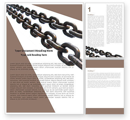 Steel Chains Word Template, 05896, Business Concepts — PoweredTemplate.com