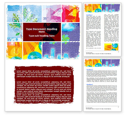 Meteorology Collage Word Template