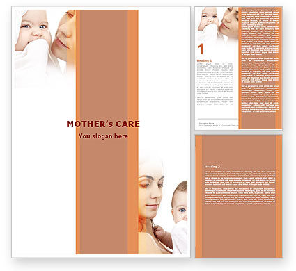 People: Baby and Mom Word Template #05908