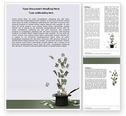 Magic Money Word Template, 05909, Financial/Accounting — PoweredTemplate.com