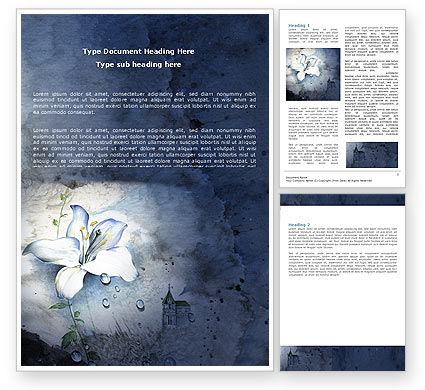 Art & Entertainment: White Lily Word Template #05918