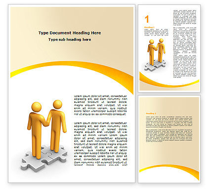 Handshaking Word Template, 05920, Business Concepts — PoweredTemplate.com