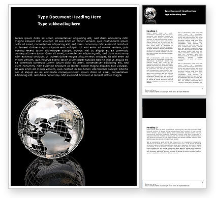 Silver Globe Word Template