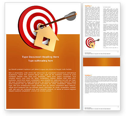 Consulting: House Target Word Template #05927