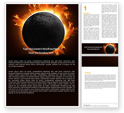Solar Eclipse Word Template