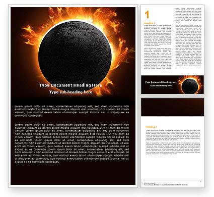 Solar Eclipse Word Template, 05932, Nature & Environment — PoweredTemplate.com