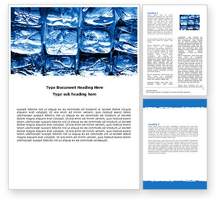 Careers/Industry: Cubes of Ice Word Template #05937