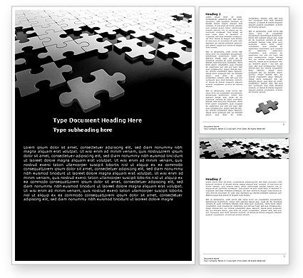 Silver Puzzle Word Template, 05940, Consulting — PoweredTemplate.com