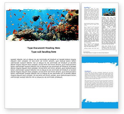 Coral Ledge Word Template, 05955, Nature & Environment — PoweredTemplate.com