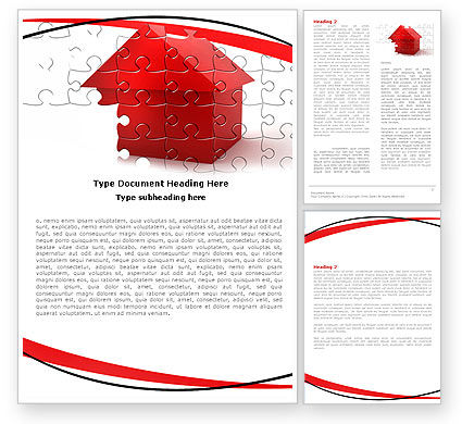 Financial/Accounting: Cottage Puzzle Word Template #05958