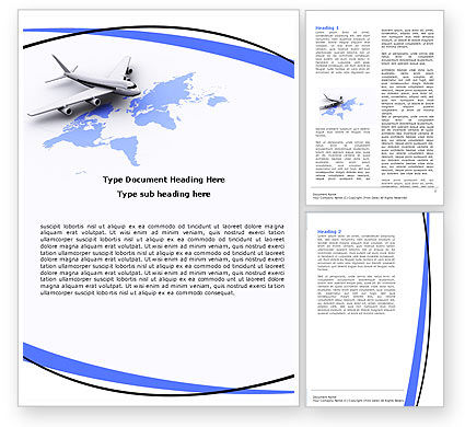 Wide World Air Transportation Word Template, 05960, Cars/Transportation — PoweredTemplate.com
