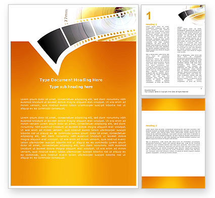 Movie Film Word Template, 05961, Careers/Industry — PoweredTemplate.com