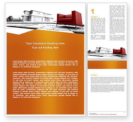 Construction: Visualization Of House Draft Word Template #05976