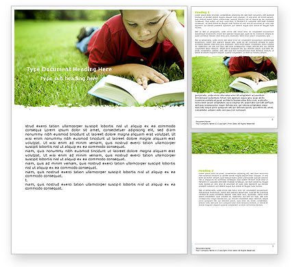 Reading On Summer Vacations Word Template