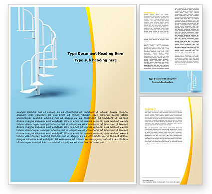 Winding Stairs Word Template, 05978, Careers/Industry — PoweredTemplate.com