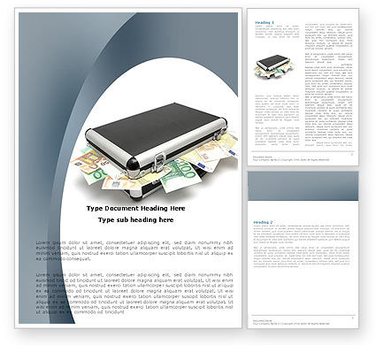 Financial/Accounting: Euro Depository Word Template #05979