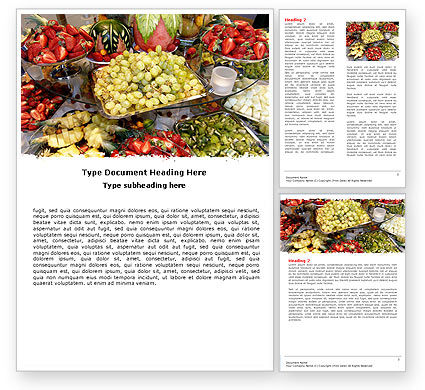 Food & Beverage: Exotic Fruits Word Template #05984